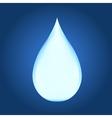 Blue shiny water drop vector image vector image