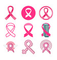 breast cancer awareness icon symbol design vector image vector image