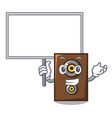 bring board speaker character cartoon style vector image