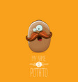 brown potato cartoon character isolated on vector image vector image