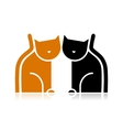 Cats silhouette for your design vector image