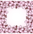 Cherry blossom frame vector image vector image