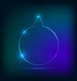christmas ball neon style vector image vector image