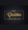 christmas golden vintage lettering with merry xmas vector image