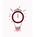 chronometer timer with bulb vector image vector image