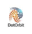 circular dot orbit logo concept design symbol vector image
