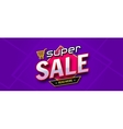 Colorful sale banner Super sale inscription vector image vector image