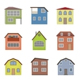 Colourful home icon collection vector image vector image
