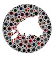 coronavirus hole circle estonia map mosaic vector image vector image