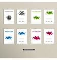 cover book with colorful abstract spots vector image vector image