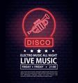 disco electro music invitation poster vector image vector image