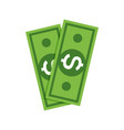 dollar money icon cash sign bill symbol flat vector image