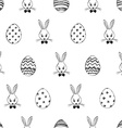 Easter Seamless Pattern With Rabbits And Eggs vector image vector image