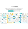 elegant thin flat line success concept vector image vector image