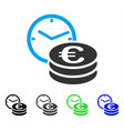 euro credit flat icon vector image vector image