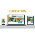 flat school adaptive design concept vector image