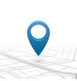 gps navigator pin checking blue color on map vector image vector image