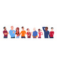 group people mix race cartoon different age vector image