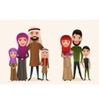 Happy arab family with children set vector image vector image