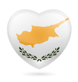 Heart icon of Cyprus vector image vector image
