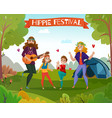 hippie festival cartoon