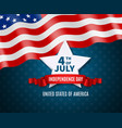 independence day postcard vector image vector image