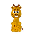 isolated cute happy giraffe on white background vector image vector image