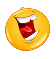laughing out loud emoticon vector image vector image
