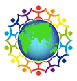 Logo - people on the earth vector image