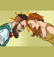 man vs woman confrontation and competition vector image vector image