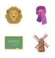menagerie education and other web icon in cartoon vector image