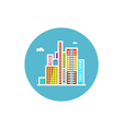 Modern buildings icon city icon vector image vector image