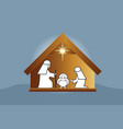 nativity family scene vector image vector image