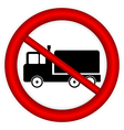 No cargo car road sign vector image vector image