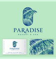paradise logo tropical spa resort identity vector image