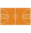 pixel art basketball sport court layout retro 8 vector image vector image