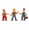 plumber electrician and repairman isolated vector image vector image