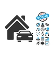 Property Flat Icon with Bonus vector image