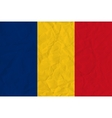 Romania paper flag vector image vector image