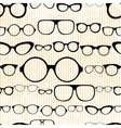 seamless pattern from glasses in vintage style vector image