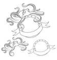 Set images with octopus isolated object vector image vector image