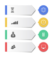 Set modern business banners with infographic icons vector image