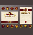set of elegant templates of certificate diploma vector image vector image