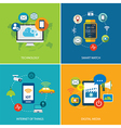 set of technology vector image