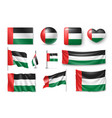 set united arab emirates flags banners banners vector image