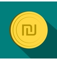 Shekel icon flat style vector image vector image