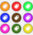 Special offer label icon sign A set of nine vector image