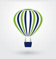 striped hot air balloon vector image