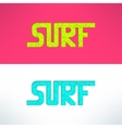surf grunge text design background Surfing vector image vector image