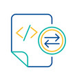system files exchange blue and yellow linear icon vector image vector image